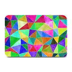 Triangles, colorful watercolor art  painting Plate Mats