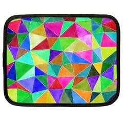 Triangles, colorful watercolor art  painting Netbook Case (Large)