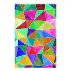 Triangles, colorful watercolor art  painting Shower Curtain 48  x 72  (Small)
