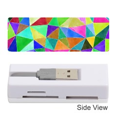 Triangles, colorful watercolor art  painting Memory Card Reader (Stick)
