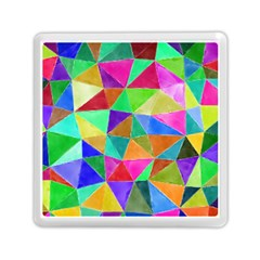 Triangles, colorful watercolor art  painting Memory Card Reader (Square)