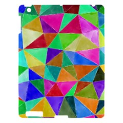 Triangles, colorful watercolor art  painting Apple iPad 3/4 Hardshell Case