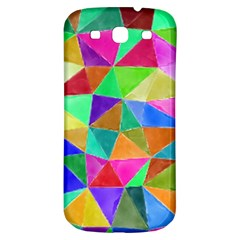 Triangles, colorful watercolor art  painting Samsung Galaxy S3 S III Classic Hardshell Back Case