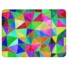 Triangles, colorful watercolor art  painting Samsung Galaxy Tab 7  P1000 Flip Case