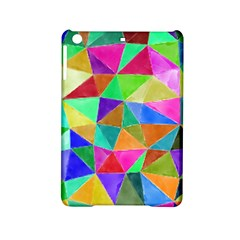 Triangles, colorful watercolor art  painting iPad Mini 2 Hardshell Cases