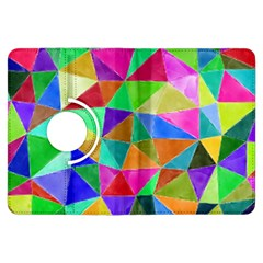 Triangles, colorful watercolor art  painting Kindle Fire HDX Flip 360 Case