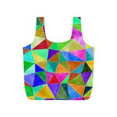 Triangles, colorful watercolor art  painting Full Print Recycle Bags (S)