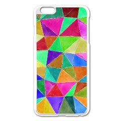 Triangles, colorful watercolor art  painting Apple iPhone 6 Plus/6S Plus Enamel White Case