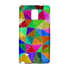 Triangles, colorful watercolor art  painting Samsung Galaxy Note 4 Hardshell Case