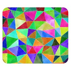 Triangles, colorful watercolor art  painting Double Sided Flano Blanket (Small)