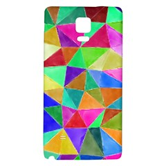 Triangles, colorful watercolor art  painting Galaxy Note 4 Back Case