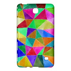 Triangles, colorful watercolor art  painting Samsung Galaxy Tab 4 (8 ) Hardshell Case