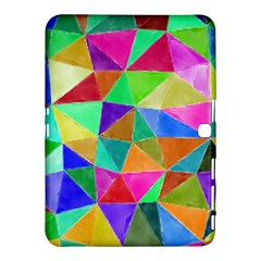 Triangles, colorful watercolor art  painting Samsung Galaxy Tab 4 (10.1 ) Hardshell Case
