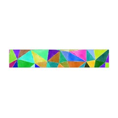 Triangles, colorful watercolor art  painting Flano Scarf (Mini)