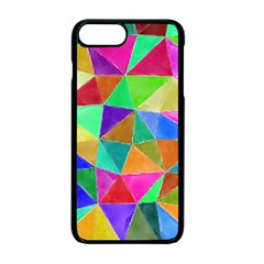 Triangles, Colorful Watercolor Art  Painting Apple Iphone 7 Plus Seamless Case (black)