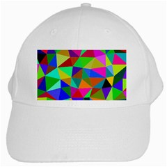 Colorful Triangles, oil painting art White Cap