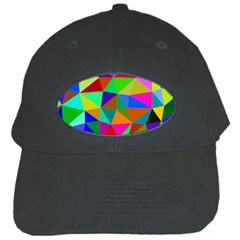 Colorful Triangles, oil painting art Black Cap