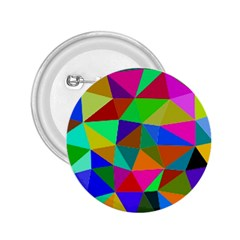 Colorful Triangles, oil painting art 2.25  Buttons