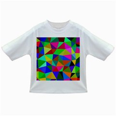Colorful Triangles, oil painting art Infant/Toddler T-Shirts