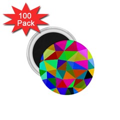 Colorful Triangles, oil painting art 1.75  Magnets (100 pack)