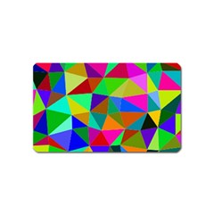 Colorful Triangles, oil painting art Magnet (Name Card)