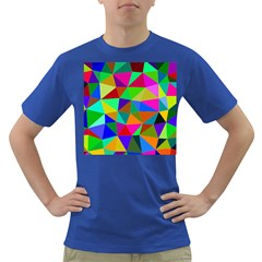Colorful Triangles, oil painting art Dark T-Shirt