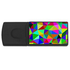 Colorful Triangles, oil painting art USB Flash Drive Rectangular (4 GB)