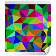 Colorful Triangles, oil painting art Canvas 8  x 10