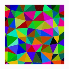 Colorful Triangles, oil painting art Medium Glasses Cloth