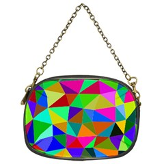 Colorful Triangles, oil painting art Chain Purses (One Side)