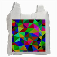 Colorful Triangles, oil painting art Recycle Bag (Two Side)