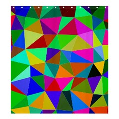 Colorful Triangles, oil painting art Shower Curtain 66  x 72  (Large)