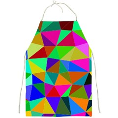 Colorful Triangles, oil painting art Full Print Aprons