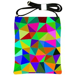 Colorful Triangles, oil painting art Shoulder Sling Bags