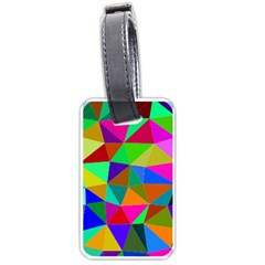 Colorful Triangles, oil painting art Luggage Tags (One Side)