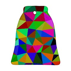 Colorful Triangles, oil painting art Ornament (Bell)
