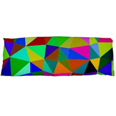 Colorful Triangles, oil painting art Body Pillow Case (Dakimakura)