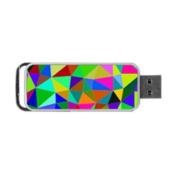 Colorful Triangles, oil painting art Portable USB Flash (One Side)
