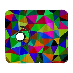 Colorful Triangles, oil painting art Galaxy S3 (Flip/Folio)