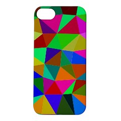 Colorful Triangles, oil painting art Apple iPhone 5S/ SE Hardshell Case