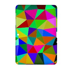 Colorful Triangles, oil painting art Samsung Galaxy Tab 2 (10.1 ) P5100 Hardshell Case