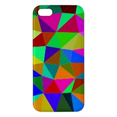 Colorful Triangles, oil painting art iPhone 5S/ SE Premium Hardshell Case