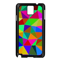 Colorful Triangles, oil painting art Samsung Galaxy Note 3 N9005 Case (Black)