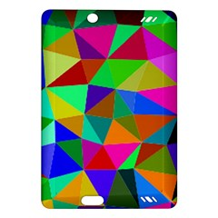 Colorful Triangles, oil painting art Amazon Kindle Fire HD (2013) Hardshell Case
