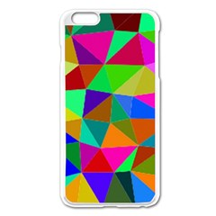 Colorful Triangles, oil painting art Apple iPhone 6 Plus/6S Plus Enamel White Case