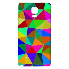 Colorful Triangles, oil painting art Galaxy Note 4 Back Case