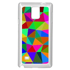 Colorful Triangles, oil painting art Samsung Galaxy Note 4 Case (White)