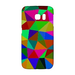 Colorful Triangles, oil painting art Galaxy S6 Edge
