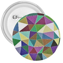 Colorful Triangles, pencil drawing art 3  Buttons