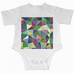 Colorful Triangles, pencil drawing art Infant Creepers